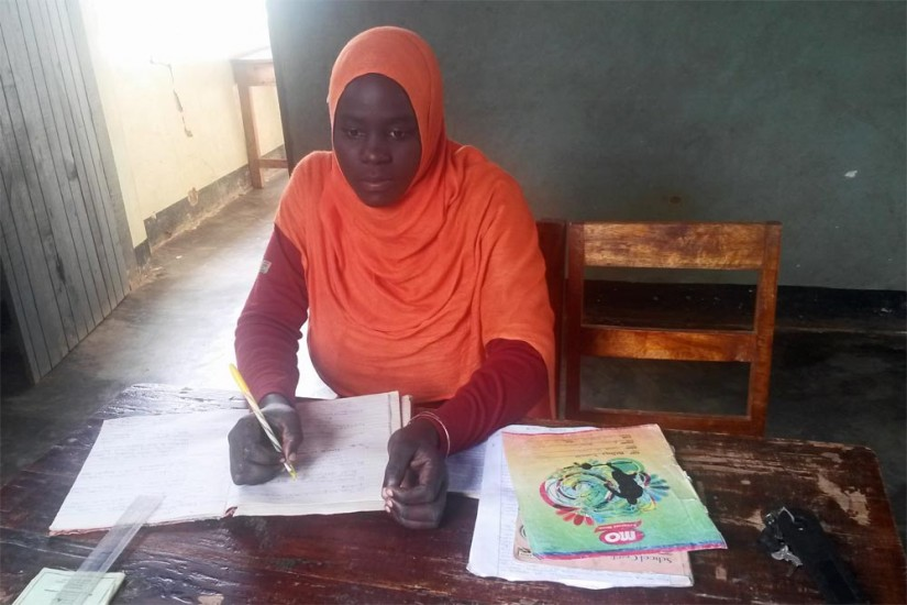 female student at ikondo secondary school