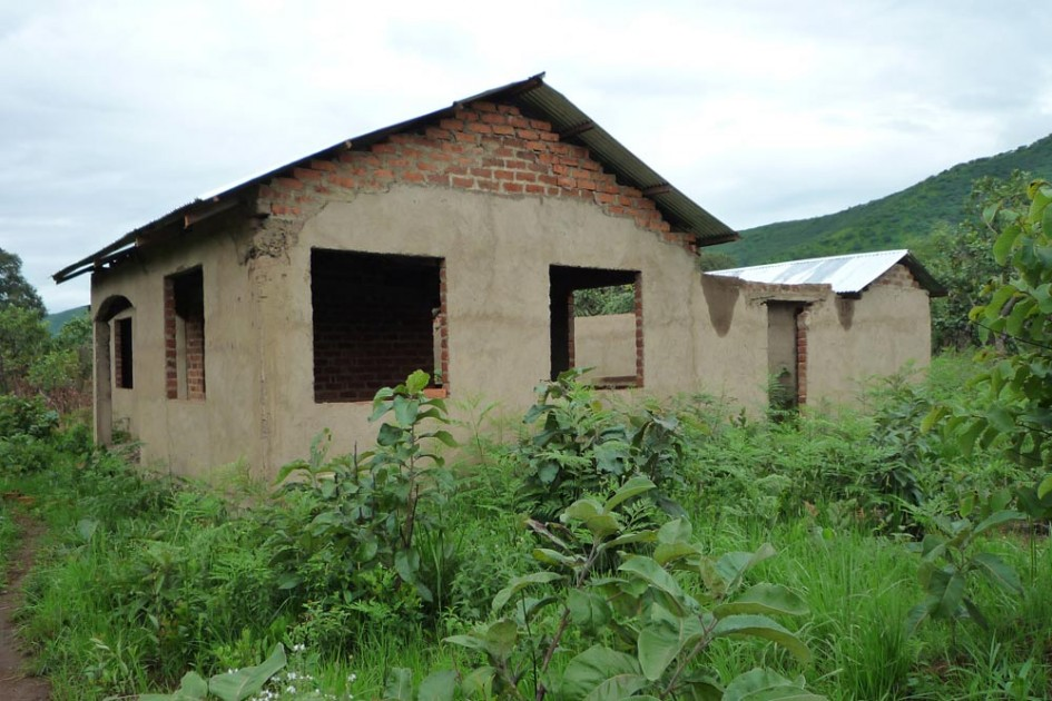 Dispensary and doctor's house under construction in Lubalisi, Kigoma