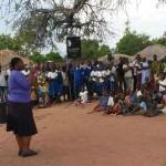 Rhobi Samwelli taking the anti-FGM message to a remote village