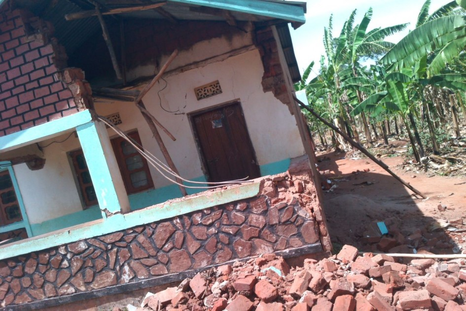 House damaged by Bukoba earthquake