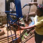 rope pump in operation in Kigoma, Tanzania
