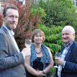 Dan Cook, Janet Chapman and Jonathan Pace at 2018 Campaign for Real Gin garden party