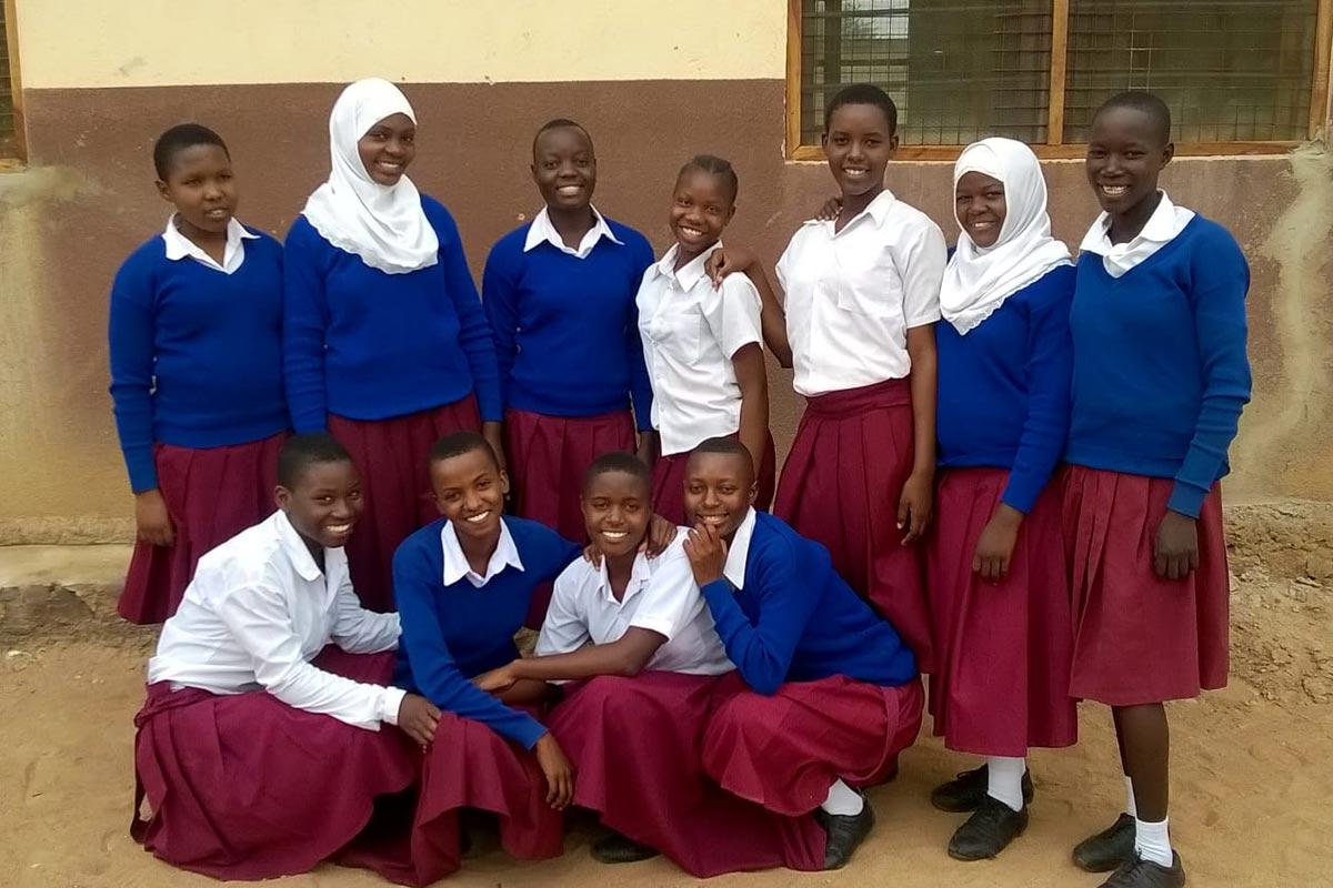group of girls at hostel in tanzania
