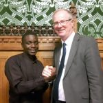 TDT Kigoma representative Benedicto Hosea with Jeremy Lefroy MP