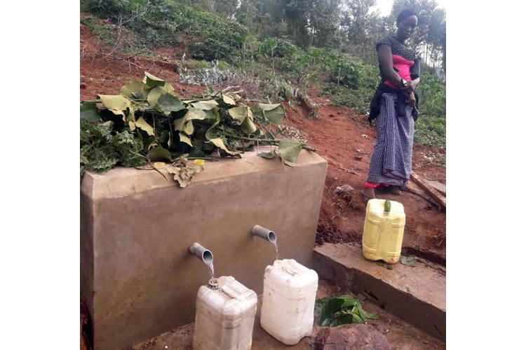 Concrete water point at Kishanda, Tanzania