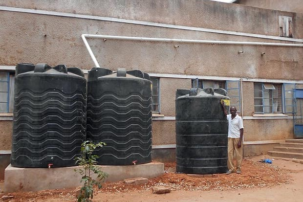 water tanks at Mvumi school of nursing