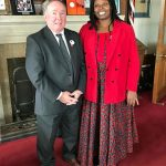 Rhobi Samwelly with Senator Jim Munson