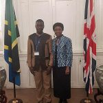 Benedicto Hosea, TDT's local rep for Kigoma, meeting Tanzanian High Commissioner Asha-Rose Migiro
