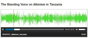 link to radio discussion on albinism